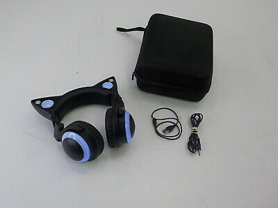 Brookstone 317857 - Wireless Cat Ear Headset, Color Changing