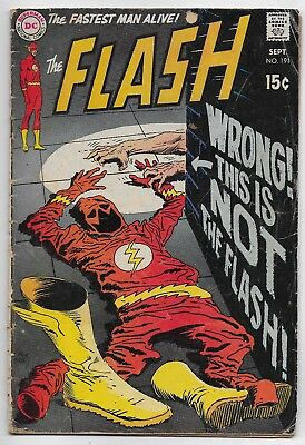 Flash #191 September 1969 DC Comics 4.5 VG+  15 cents price on cover