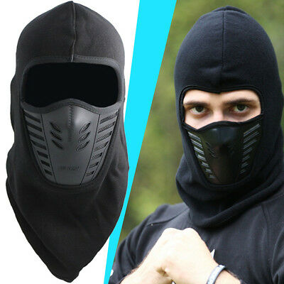 Black Windproof Fleece Neck Warm Balaclava Ski Full Face Mask for Cold Weather