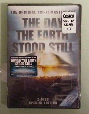THE DAY THE EARTH STOOD STILL 2 disc special edition  DVD NEW small shrink tear
