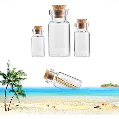 Empty Wishing Transparent Tiny Small Message Bottles With Cork Stopper