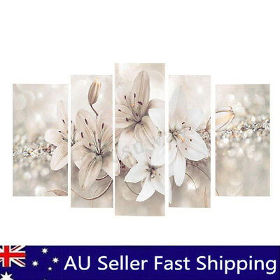 5Pcs Abstract Flower Canvas Print Art Painting Wall Picture Modern Home Decor AU