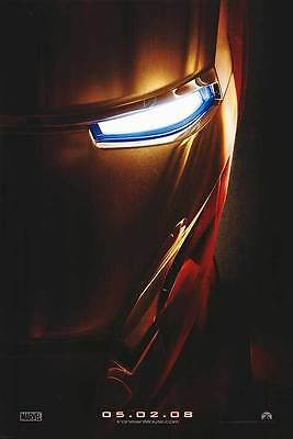"""Iron Man Advance Double  Sided 27""""x40' inches Original Movie Poster by Marvel"""