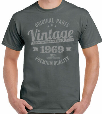 Vintage Year 1969 Premium Quality Mens 50th Birthday T-Shirt 50 Year Old Gift