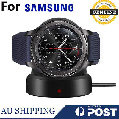 GENUINE Samsung Gear S3 Wireless Charging Dock Charger Cradle EP-YO760BBEGWW
