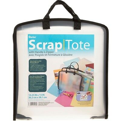 Plastic Scrap Tote W/pockets-