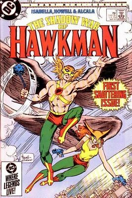 Shadow War of Hawkman #1 1985 VG Stock Image Low Grade
