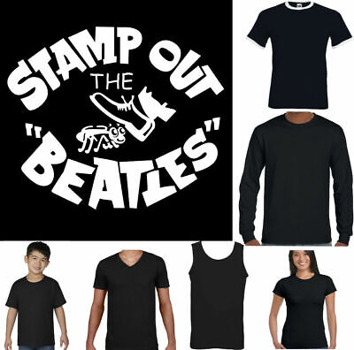 STAMP OUT THE BEATLES T-Shirt Mens Funny As Worn By George Harrison Unisex Top