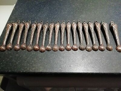 16 vintage copper stair clips