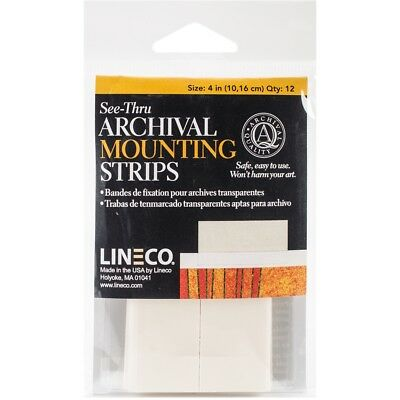 Lineco See-thru Archival Mounting Strips 12/pkg-4""