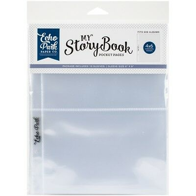 """My Story Book Album Pocket Pages 6""""x8"""" 10/pkg-(2) 4""""x6"""" Openings"""