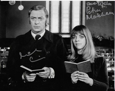 GET CARTER personally DOUBLE signed 10x8 - MICHAEL CAINE and PETRA MARKHAM