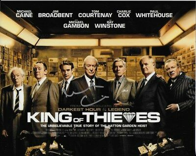 KING OF THIEVES personally signed 12x8 MICHAEL CAINE as Brian Reader