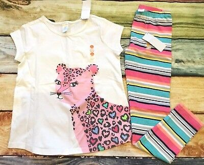 Gymboree Mix N Match LOVE Panda Heart Top Striped Leggings Outlet NWT Valentines