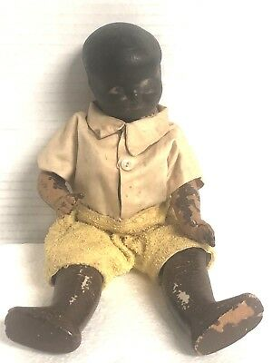 Antique African American Black Toy Doll