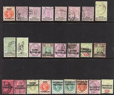 BECHUANALAND 1888 - 1892 SELECTION MM /USED  to 5/-  25 STAMPS SEE SCANS