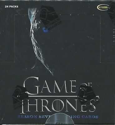 2018 Game of Thrones Season 7 Factory Sealed Box w/ 2 autographs + P1 Promo Card