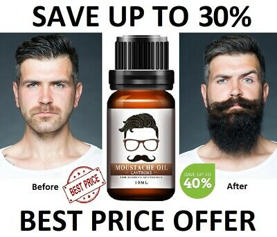 Men Beard Growth Oil  Hair Mustache Natural Liquid Care Fast Grow Conditioner ⚡