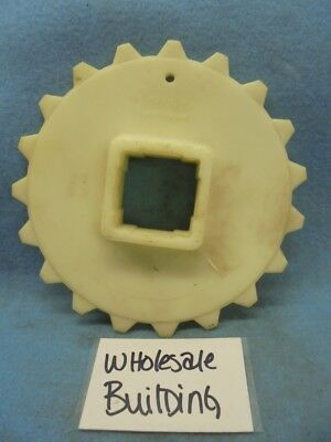 "Intralox S100 Conveyor Chain Sprocket, 6.1"" Pd, 1.5"" Sq Bore, 19 Teeth, 6.3"" Od"