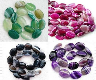 UKcheapest-15.5''purple blu pink black greenred banned agate oval gemstone beads