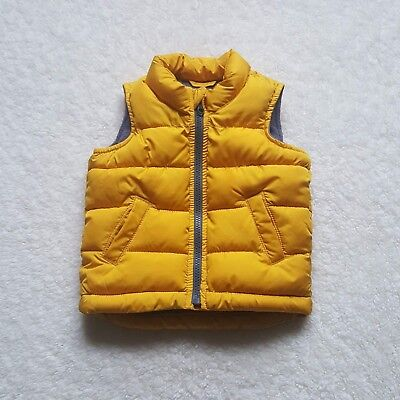 a99a5e41a Old Navy Puffer Vest Kids Toddler BABY Boy's Size 12-18 Month Mustard Yellow