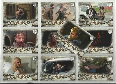 """2018 Walking Dead: Road to Alexandra CAPTURED Set of 10 """"Chase Cards"""" (CA1-CA10)"""