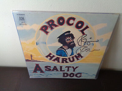 RARE PROCOL HARUM A SALTY DOG SIGNED Robin Trower AUTOGRAPHED LP VINYL VG++