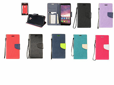 PU Leather Wallet Case Cover For Alcatel 1X Evolve/IdealXTRA 5059R/TCL LX A502DL