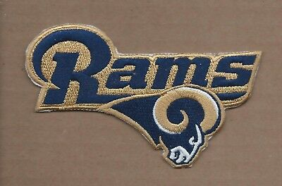 New 2 1/2 X 4 1/2 Inch Los Angeles Rams Iron On Patch Free Shipping