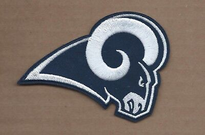 New 2 7/8 X 4 1/4 Inch Los Angeles Rams Iron On Patch Free Shipping