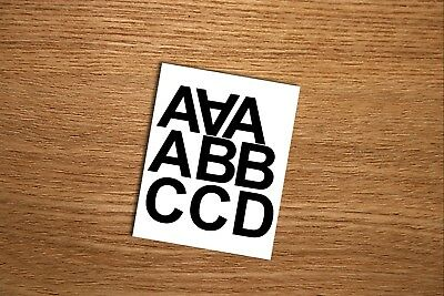 """1"""", 2"""", 3"""", 4"""", 5"""", Self Adhesive Vinyl Letters & Numbers Your Own Text"""