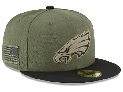 New Era 2018 Philadelphia Eagles 59Fifty Salute to Service Fitted Hat  Sideline 3c35de87870