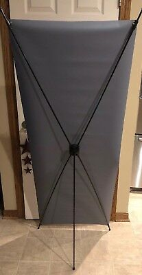 X Banner Stand Folding Black 24x63 Tripod Trade show Display Commercial Walmart