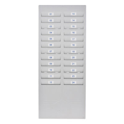 Time Card Rack Holder 24 Slots Durable Wall Mounted Plastic Office Supplies F3W9