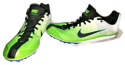 new style 82445 dc094 Nike Zoom Rival D Mens Size 10.5 Track Shoes Lime Green   White