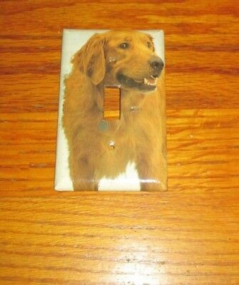 Beautiful Lovable Golden Retriever Dog Light Switch Cover Plate