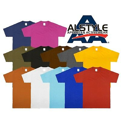 AAA Alstyle Apparel 1301 Plain Casual Basic Crew Neck Short Sleeve T-shirts Tee