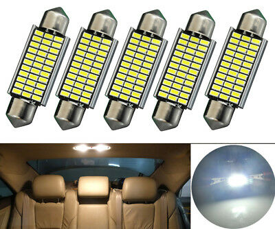 5x Sofitte Soffitte 33 SMD LED 42MM Weiss CANBUS Innenraum 12V Deutsche Post
