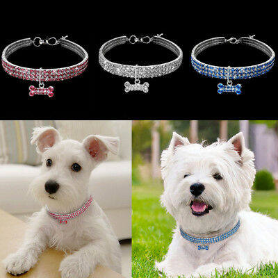 Pet Dog Necklace Noble Crystal Glitter Collar Chihuahua Charms Pet Accessories