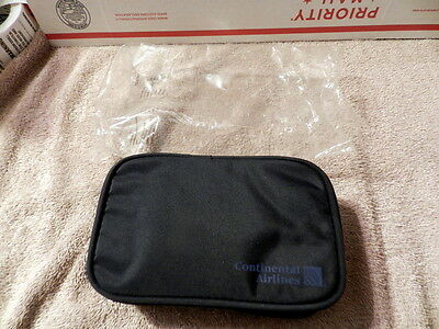 Continental Airlines Travel Amenity Kit Zipper Bag Vintage New FAST Free Shipped
