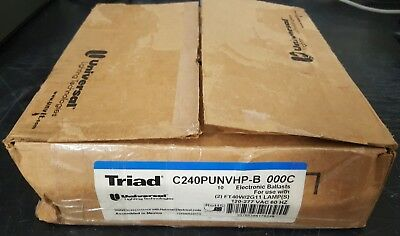 Lot of 10 Universal Triad Electronic Ballasts for FT40W/2G11 Lamps - 120-277V