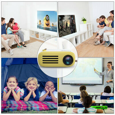 Excelvan YG200 Projector Multimedia TF card AV USB HDMI Portable Home Theater
