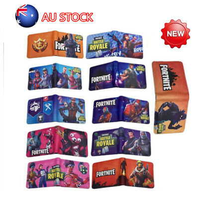 AU Fortnite Kids Boys Short Bifold Purse Money Wallet Bag Birthday Gift 2019