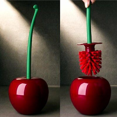 Toilet Brush Set Cherry Shape Standing WC Cleaning Brush Home Bathroom Accessory