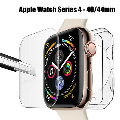 For Apple Watch Series 4 40mm & 44mm Soft Bumper Protective Case & Screen Cover