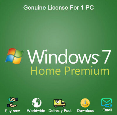 Windows 7 Home Premium Key Download for Both 32 and 64 Bit Genuine