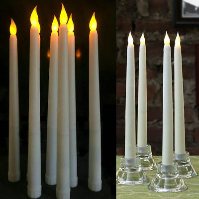 4PCS battery operated flameless led taper candle lamp candlestick remote control
