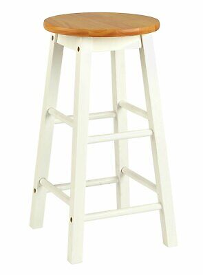 Argos Home Pair of Wooden Bar stools - Two Tone.