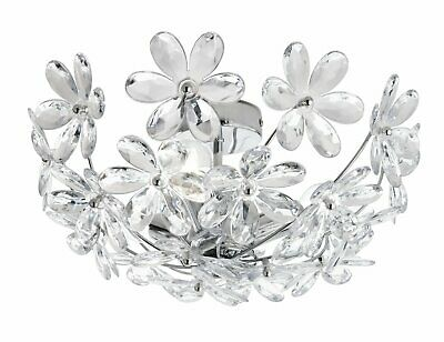 Argos Home Agnes Clear Floral Ceiling Uplighter
