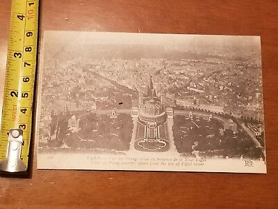 Rare Vintage Postcard Early French Scene Passy Quarter Eiffel Tower Paris France